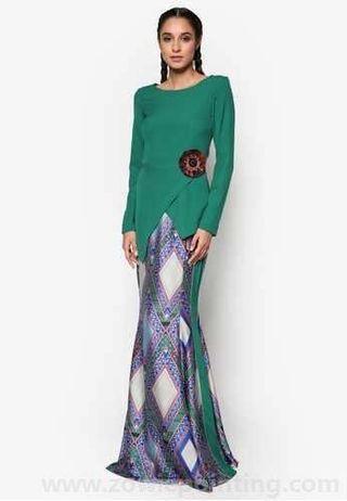 Jovian Mandagie - Zofie Dress (Emerald Green Kurung/Dress)