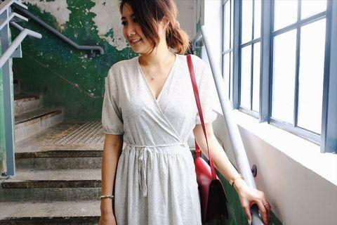 韓國雪紡連身裙