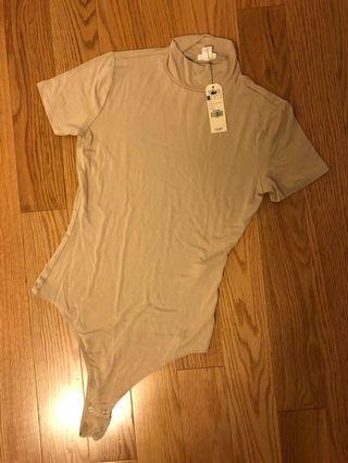 Garage Nude Mock Neck Bodysuit (Size XS)