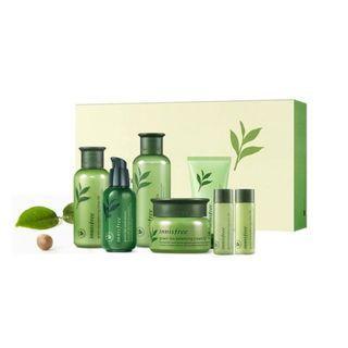 韓國🇰🇷Innisfree 濟洲綠茶保濕套裝~7件裝 ( Green Tea Special Skin Care 7pcs Set )