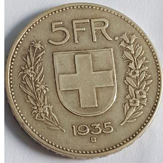 Switzerland 5 francs 1935