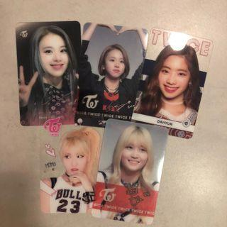 🚚 TWICE TRANSPARENT PHOTOCARDS PC