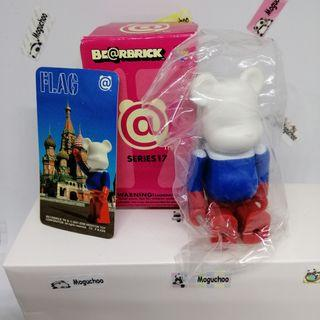 Bearbrick Series 17 Flag Russia figure