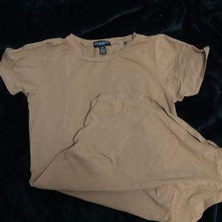 Camel T-shirt dress