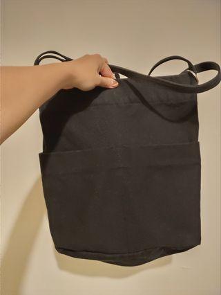 【新】超質感帆布包/黑色