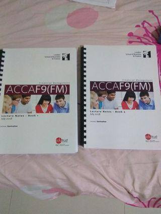 LSBF ACCA 2018/2019 F9(FM) Lecture Notes + Study Manual + Revision Kit