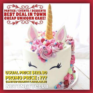"*NEW!* Premium Pastel 5"" / 8"" Unicorn Cake / Party / Events / Rainbow Unicorn / Anniversary / Baby Full Month / Birthday Cake"