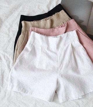 🚚 百搭彈性褲頭棉麻褲