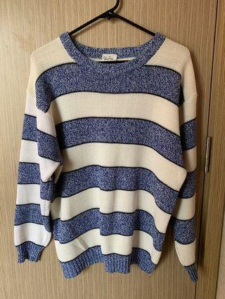 Vintage Chunky Striped Pullover