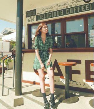 秀英同款 茶歇裙 短洋裝