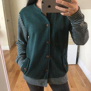 Green button down jacket