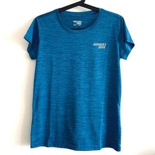 Size M-L Blue Running Edge Jogging Gym Exercise TOP Tee Sportswear @sunwalker