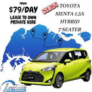 HOT LEASE !!! BRAND NEW TOYOTA SIENTA 1.5A HYBRID 7 SEATER