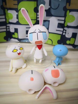 GSC黏土人 #004 嘻皮校園 「愛哭兔」
