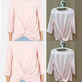CANGKUK Knot Top in Pink