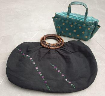 Preloved Embroidery bag + BN lunch bag