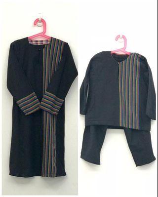 Baju kurung and baju melayu (kain pelikat material)
