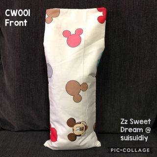 CW001 ~ Mickey Baby's Beansprout Husk / Buckwheat Hull Pillow