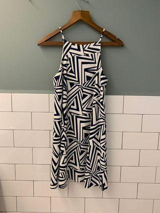 Aztec abstract trapeze swing dress