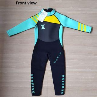 Children swim suit for $38. Material is 3mm thick, able to keep your child warm
