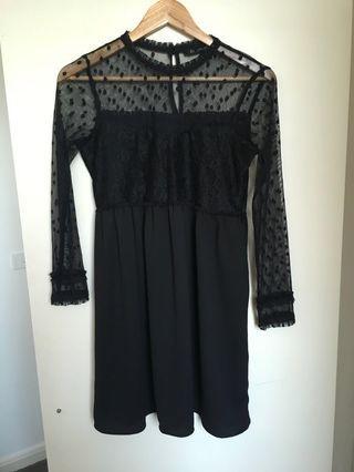 Zara Black Mesh Dress