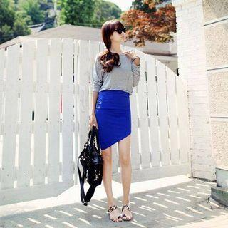 Stylenanda Asymmetrical Bodycon Skirt