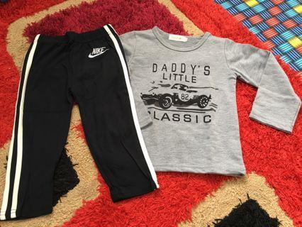 Set long sleeve and long pants size 2