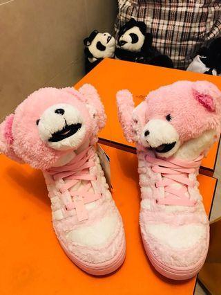 Adidas Jeremy Scott Bear Pink sneakers 波鞋 39.5 100%new 1556