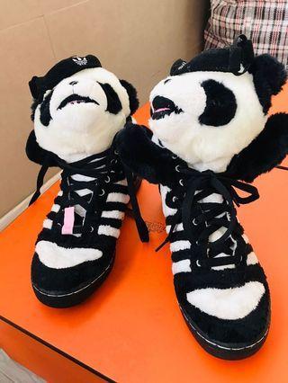 Adidas Jeremy Scott panda black sneakers 波鞋 36.5 95%new 1554