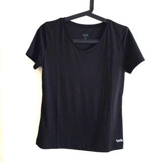 Size 3 or L (fits S-M) Bods Collective Black Short Sleeve Sports Activewear Top Blouse Tee @sunwalker