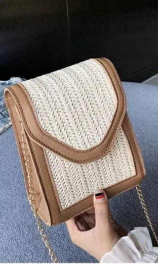 🚚 Summer Straw Sling Bag 1