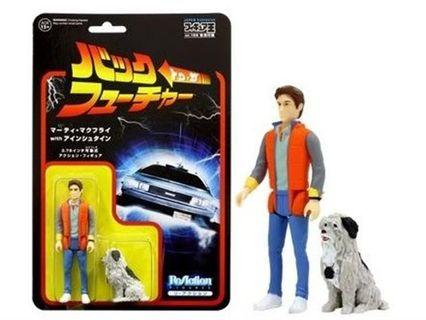 BACK TO THE FUTURE • ReAction Marty Mcfly & Einstein JAPAN EXCLUSIVE