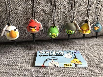 日本扭蛋 Takara Tomy Angry Birds Lucky Charm 幸運掛飾 一套6隻
