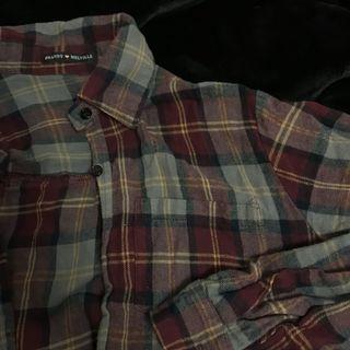 Brandy Melville plaid button up