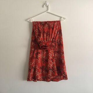 Silk Red Maxi Skirt
