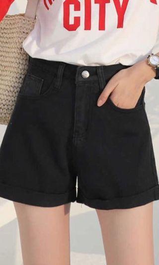 Black High Waist Shorts!!