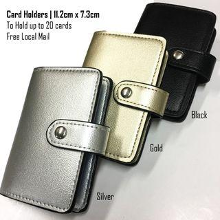 Small Button Design-POCKET SIZE-Card Holders - Free Local Normal Mail