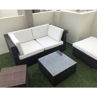 FAST DEAL! $140 Garden Furniture / Outdoor Furniture - Sofa and Coffee table