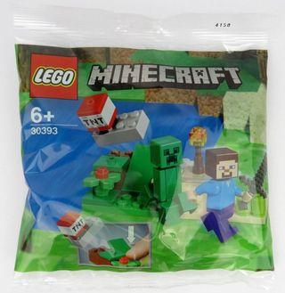Lego Minecraft 30393 Polybag Steve and Creeper Set