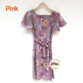 Mididress / Dress pantai / midi dress korea / summer dress / floral dress kimono / 1897