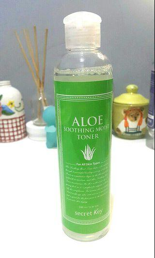 (pre-loved) Secret Key ALOE soothing moist toner