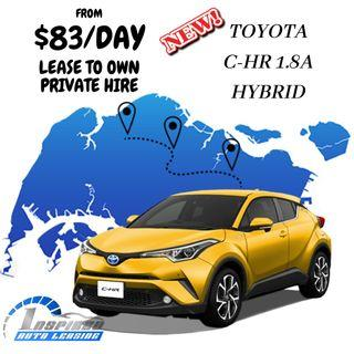 HOT LEASE !!! BRAND NEW TOYOTA C-HR 1.8A HYBRID