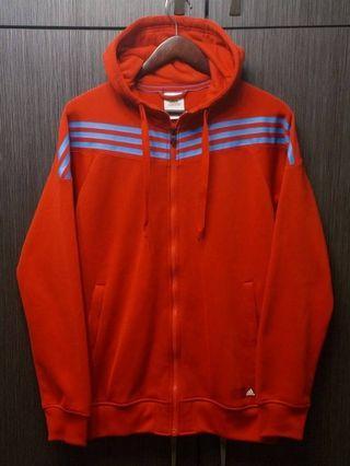 Adidas Climawarm 男無落肩紅色連帽外套L