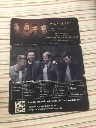 Westlife The Twenty Tour Ticket #APR75 #OYOHOTEL