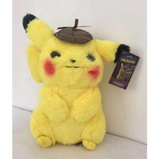 Readystock 2019 Movie Pokémon Detective Cute Pikachu Plush Doll Toy 28cm