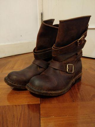 jeffery Campbell 真皮biker boots