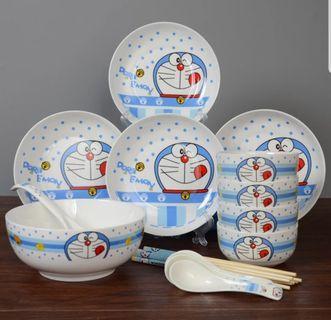 Doraemon Cartoon Ceramic Bowl Tableware Set