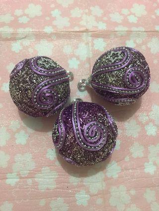 聖誕裝飾球3個