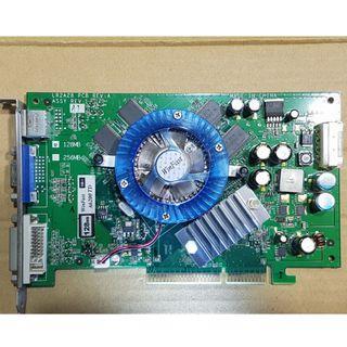 麗臺 WinFast A6200TD 顯示卡、AGP介面、128MB、DDR2、128Bit、燒機測試良品