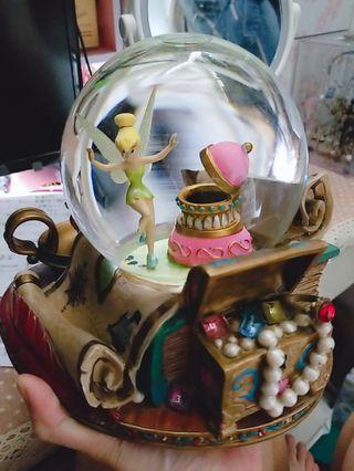 disney 絕版 tinkerbell 小仙子 音樂盒
